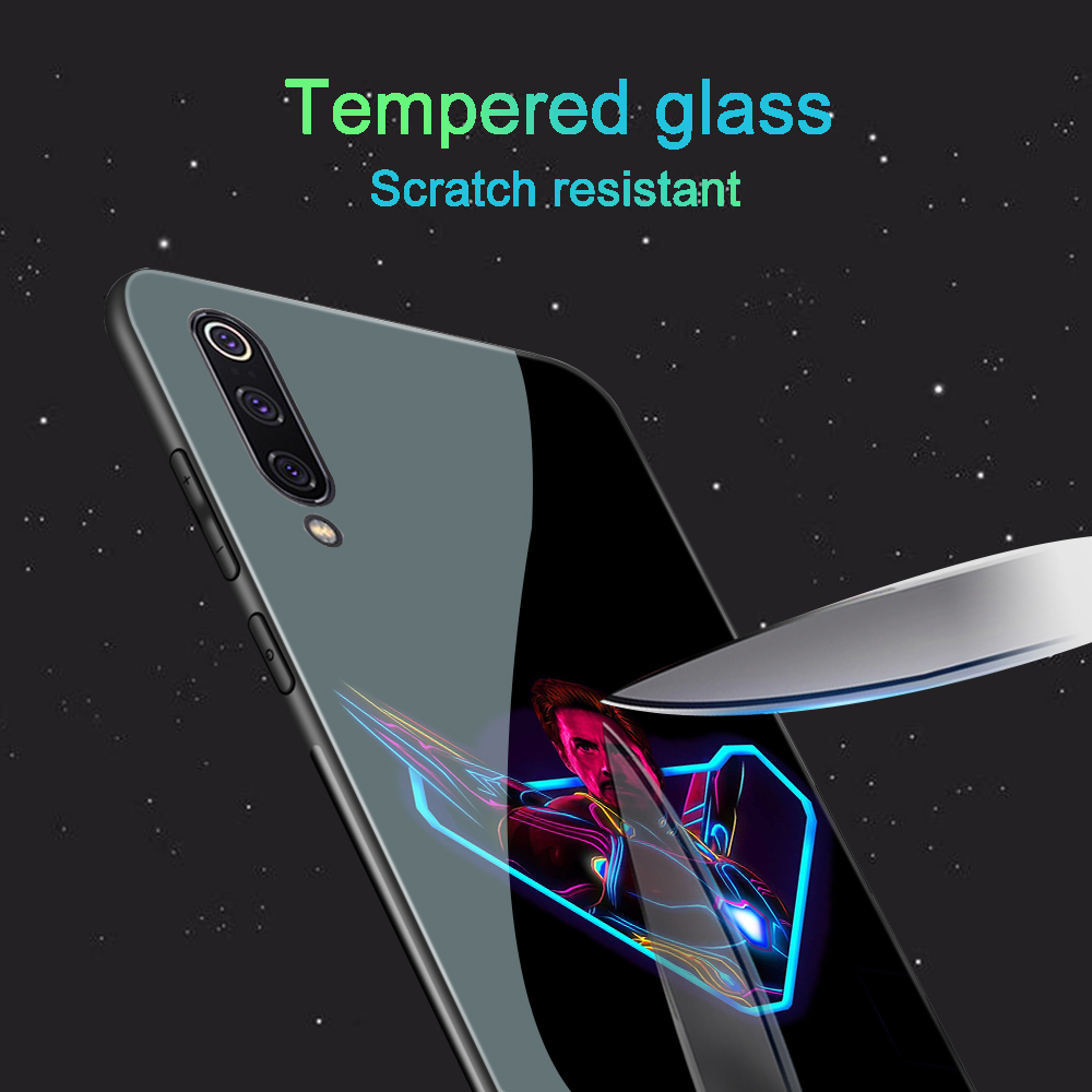 Image 5 - ciciber For Xiaomi MI 9 8 A2 6X MIX 2 2S PocoPhone F1 Glass Phone Cases for Redmi Note 7 6 5 Pro Plus Cover Capa Marvel Deadpool-in Fitted Cases from Cellphones & Telecommunications