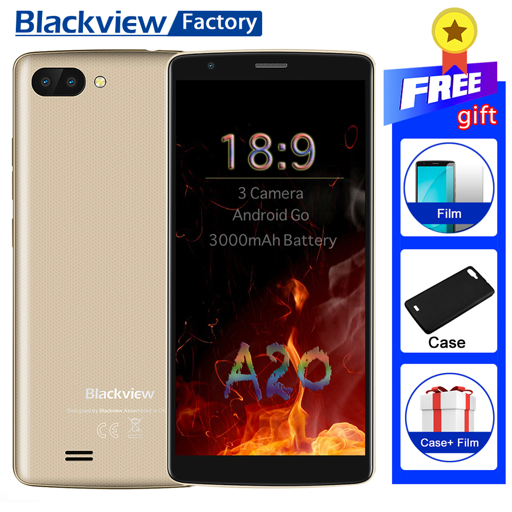BLACKVIEW A20 mobile phone Android GO 18 9 5 5 IPS Dual Rear Camera Smartphone Quad