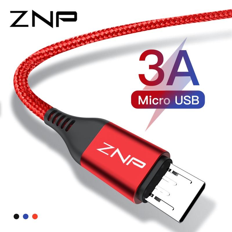 Znp 3a Schnelle Lade Micro Usb Kabel Für Xiaomi Redmi Hinweis 5 6 7 Usb Micro Daten Kabel Für Samsung S7 Honor Android Ladegerät Kabel Handy Kabel