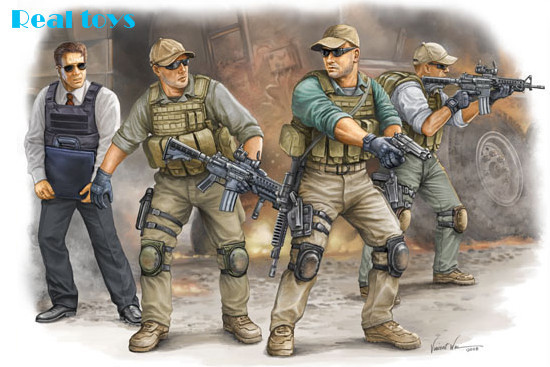 Trumpeter Model 00420 1/35 PMC in Iraq 2005--VIP Security Guards plastic model kit