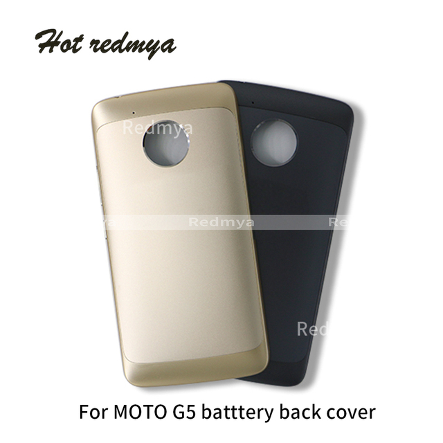 new products 0bbb5 bfc3f US $9.09 5% OFF|Original For Motorola Moto G5 XT1670 XT1671 G5 Plus XT1682  XT1685 Battery Back Cover Door Housing Full Cover Rear Cover-in Mobile ...