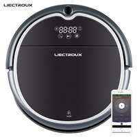 LIECTROUX Robot Vacuum Cleaner Q8000, WiFi App,2D Gyroscope Map Navigation,Visual Localization,Memory,Wet Dry Mop,Suction 3000Pa