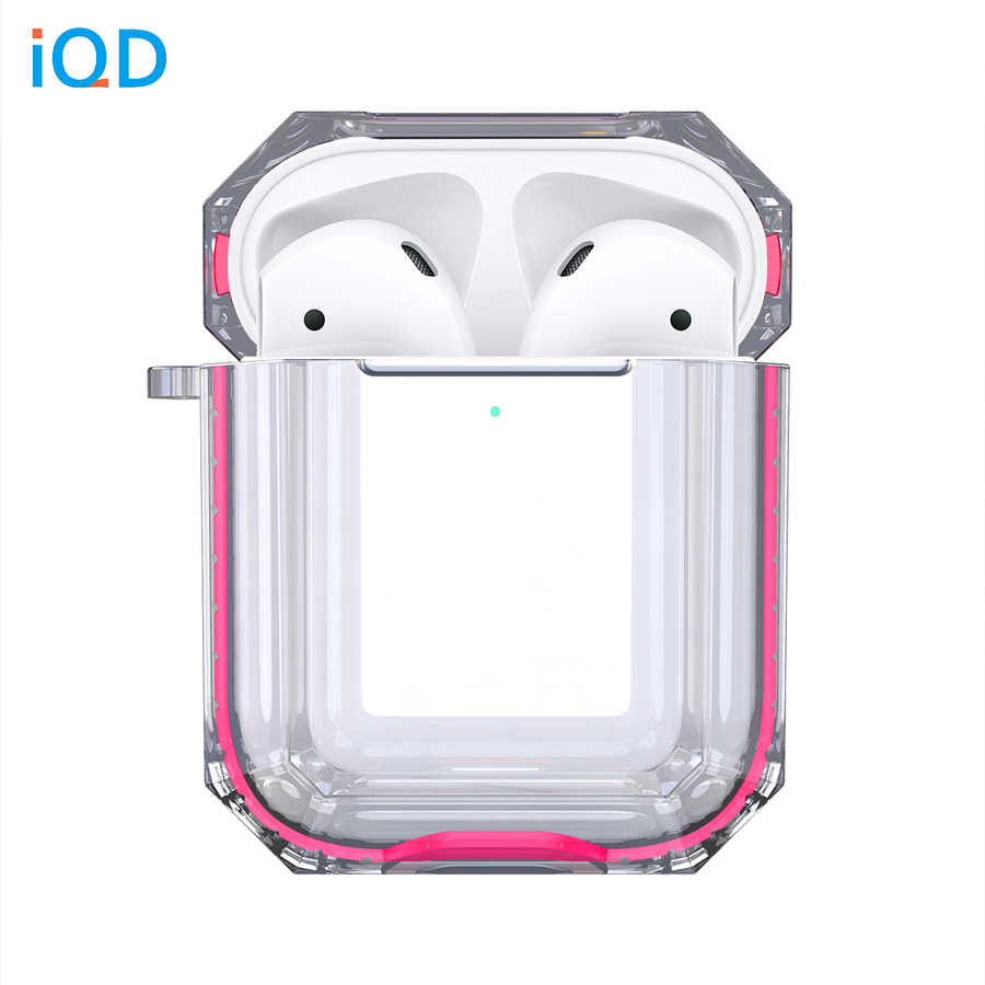 IQD for Apple AirPods Case Charging 2nd Gen 1st Clear Hard TPU Bumper Protective Cover Skin Transparent Shock Proof soft plastic