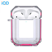IQD for Apple AirPods Case Charging 2nd Gen 1st Clear Hard TPU Bumper Protective Cover Skin Transparent Shock Proof soft plastic(China)