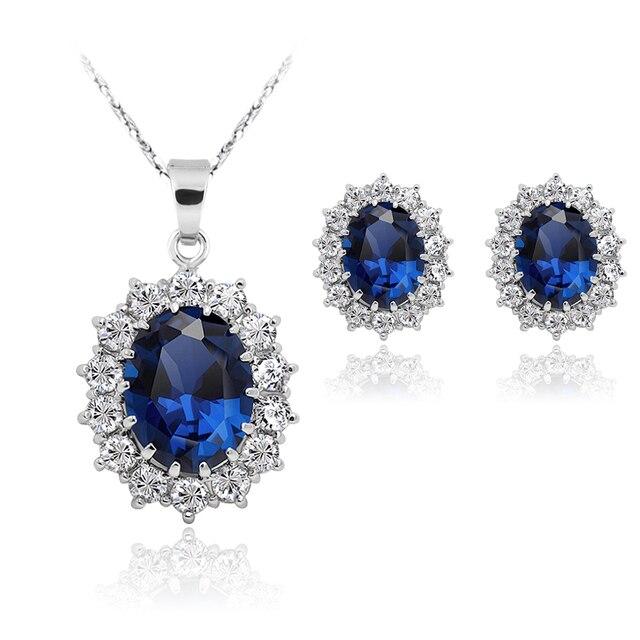 Aliexpresscom Buy Queen Royal ocean blue Jewelry Sets conjuntos