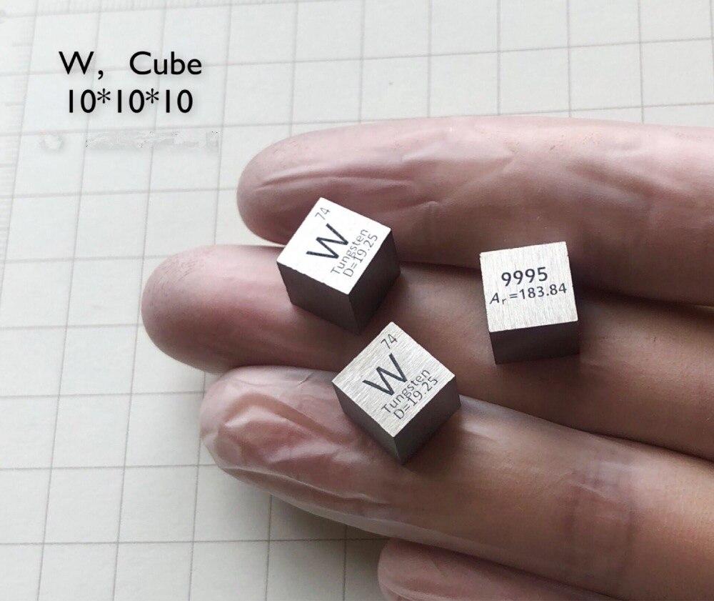Puro 99.95% W Cubo De Tungstênio Tabela Periódica dos Elementos de Metais De Terras Raras Bloco Em Massa para o laboratório de Pesquisa industrial Coleção