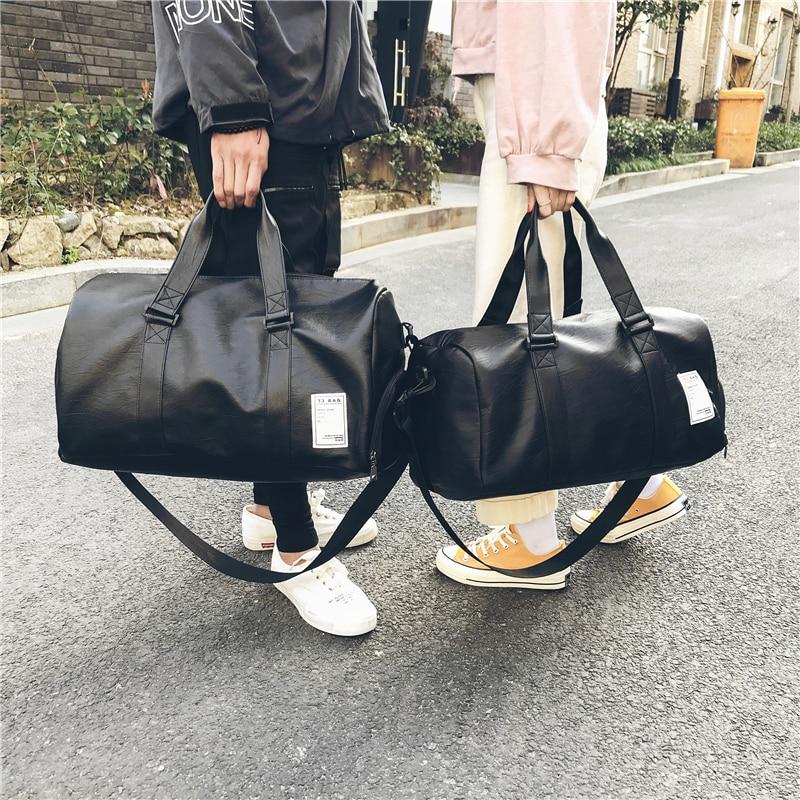 Women Men Unisex Travel Bag Handbag Beach Shoulder Bag Crossbody Bag PU Large Capacity Fashion Couples Duffel Package HOT SALE