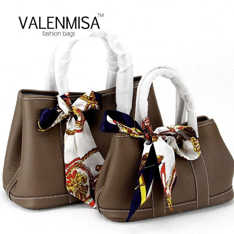Brand High Quality Genuine Leather Bags Women'S Garden Party Tote Luxury Handbags Women Bags Designer Shoulder Bag With Scarf