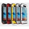 Liga de metal amor mei vida waterproof case capa para iphone 7 7 plus 4 4S 5 5S 6 6 s plus + gorilla vidro