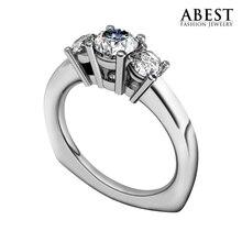 Marca de Joyería de lujo NSCD Laboratorio Crecido anillo de Diamante de Oro Anillo de Las Mujeres Anillo de Sona Diamante Simulado Anillo de Compromiso de la Boda para La Señora