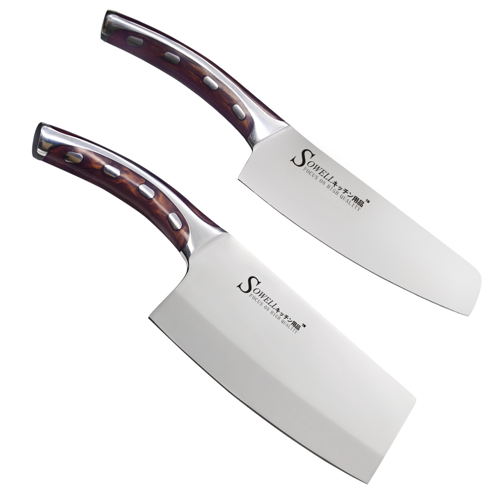 Cheap 4cr14mov stainless steel knife 6 inch chef 7 inch for Handle kitchen set