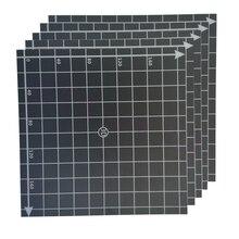 Adesivo embutido 220x220mm para cama quente, coordenado impresso adesivo de superfície de cama f/wanhao i3, impressora 3d anet a8 a6 prusa