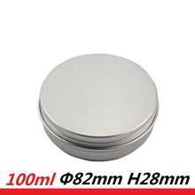 80pcs 100g Round Tin Cans Metal Packaging Cosmetics Jar Cream Container wax Round Aluminum Butter Case 100ml DIY Soap Containers