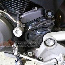 Покрытие цепного колеса для Ducati Monster 696 796 795 полный углерода волокно твил