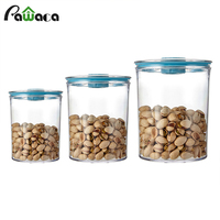 3pcs/set of Vacuum Food Storage Containers Box Air Liquid Tight Seal Clear Plastic Durable Boxes with Pump for Cereal Fresh Dry