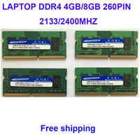 Kembona Del Computer Portatile DDR4 4GB 8GB 4G 8G di Memoria RAM 2133mhz 2400mhz 2666mhz Memoria 260-pin SODIMM RAM Bastone