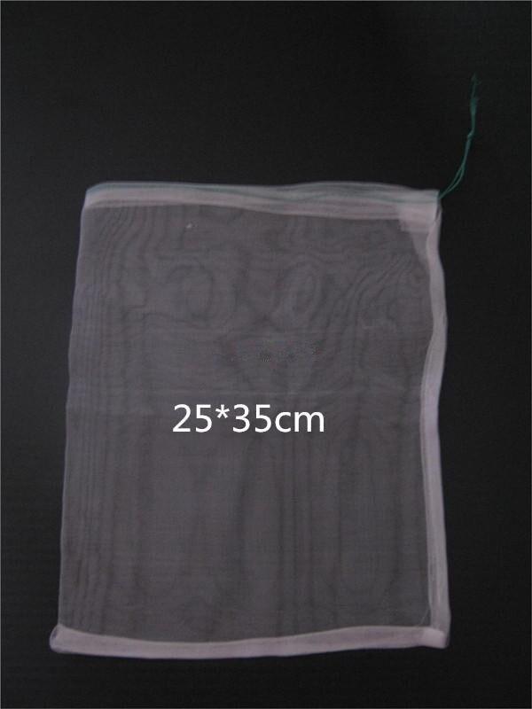 100pcs lot 25 35cm 40 Mesh Nylon bag Fish Fruit wristband bag Insect birds pest filter