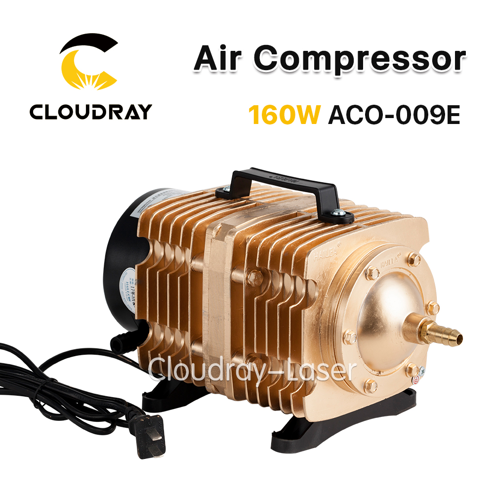 Cloudray 160W Air Compressor Electrical Magnetic Air Pump for CO2 Laser Engraving Cutting Machine ACO-009E oil free air compressor high pressure gas pump spray woodworking air compressor small pump 3 1100 100l