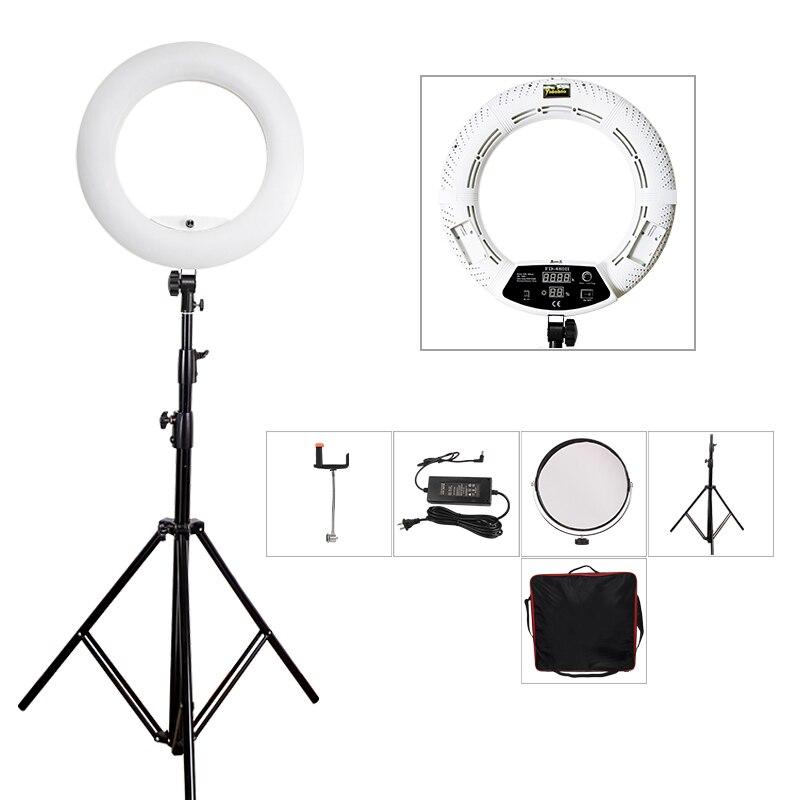 Yidoblo White FD-480II 18 Studio Dimmable Ring Light 5500K 480 LED Video Light Lamp Photographic Lighting + Tripod (280cm)+ bag