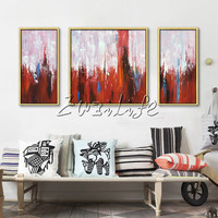 Hand painted canvas oil paintings Wall art Pictures for living room modern abstract decorative 7
