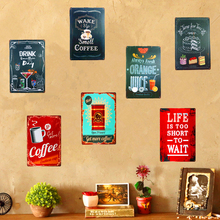 Letrero de Metal de lata Shabby chic, café, cóctel, menú, arte Vintage, cartel, restaurante, café, Bar, Pub, taberna, decoración de pared