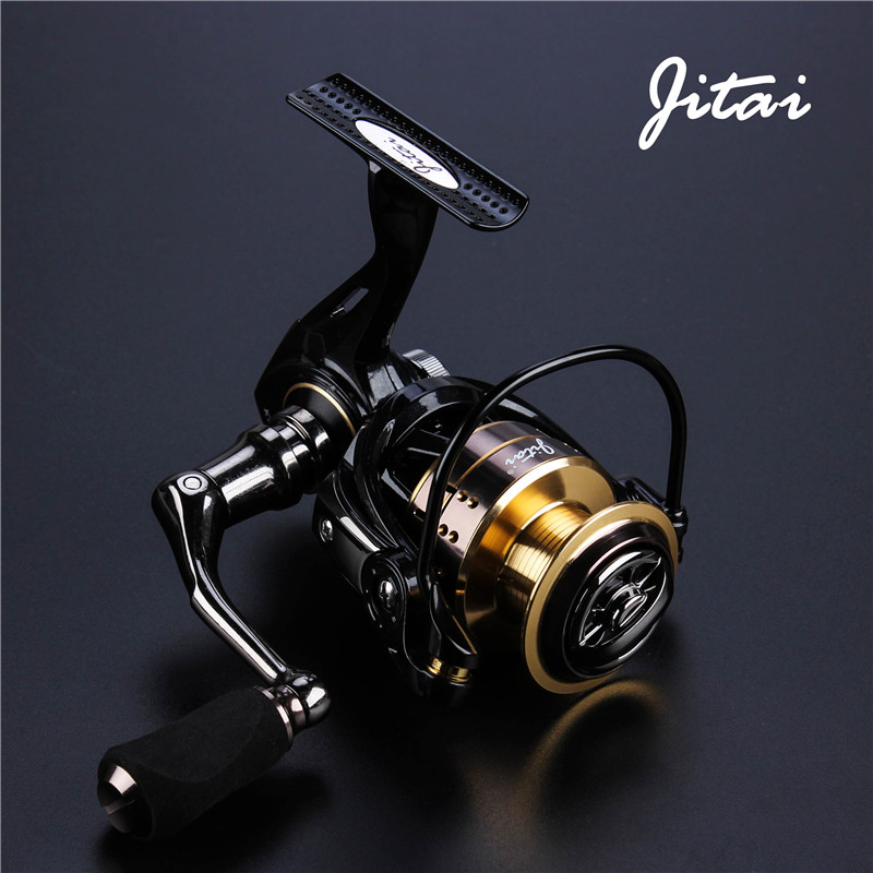 JITAI Saltwater Alluminum Alloy Spinning Reels Carp Fishing 11+1BB 5.2:1 Fishing Wheels With Stainless Handle Soft EVA Knob