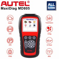 Autel MD805 OBD2 Scanner Car Code Reader Full System Diagnostic Tool Support ABS/OLS/EPB/transmission/Airbag better than md802