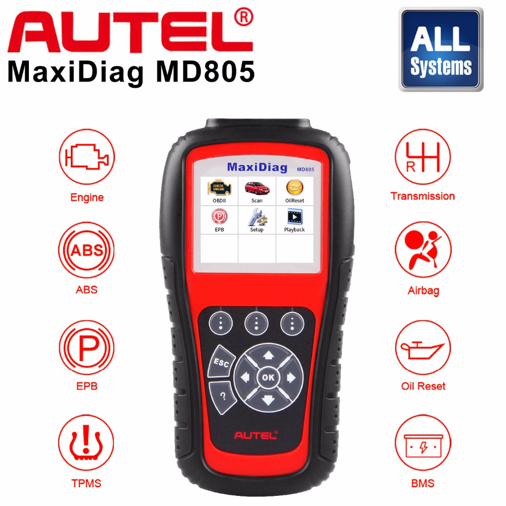 Autel MD805 OBD2 Scanner Car Code Reader Full System Diagnostic Tool Support ABS/OLS/EPB/transmission/Airbag better than md802 lacywear s 12 ols