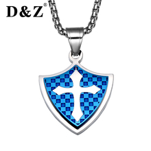 Buy shield of faith and get free shipping on aliexpress dz trendy cross faith men silver stainless steel royal aloadofball Images