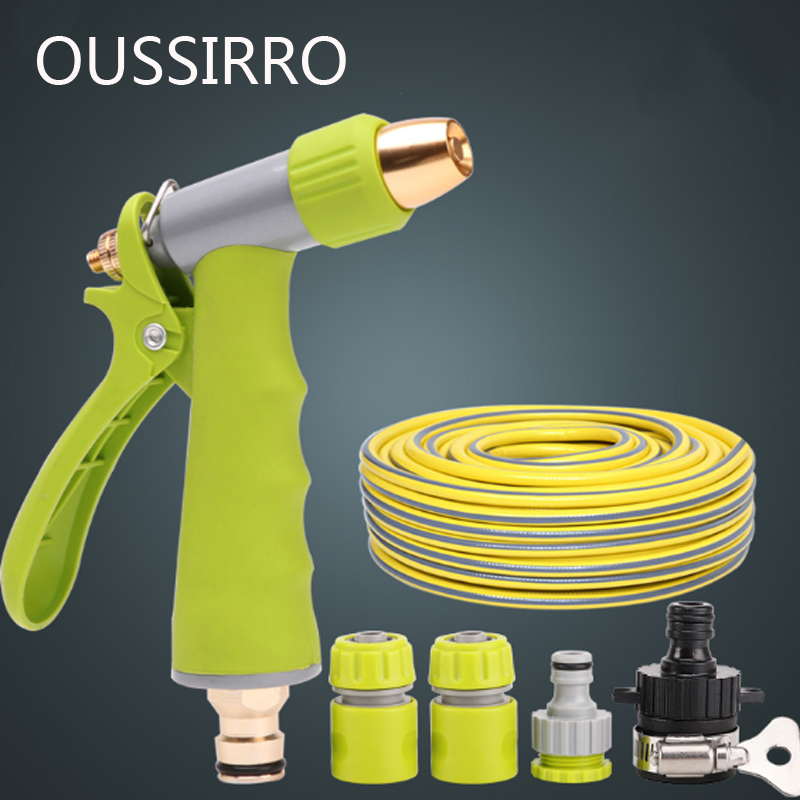 Four Points Car Wash Water Pipe Hose Home Watering Garden Tube Anti Freeze Explosion Proof Tube High-Pressure Washing Car metal hose nozzle high pressure water spray gun sprayer garden auto car washing