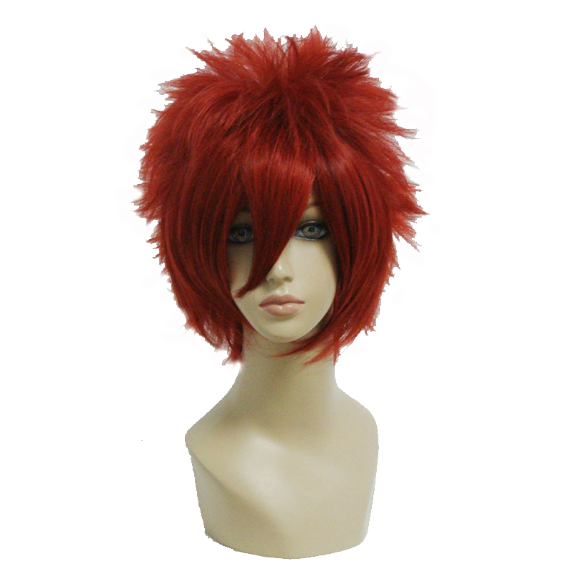 MCOSER Short Red Wig 32cm Straight Synthetic Cosplay Wig Free Shipping 100% High Temperature Fiber Hair WIG-198A