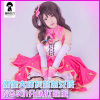 THE IDOLM@STER CINDERELLA GIRLS Uzuki Shimamura Night Party Dress Cos Stage Woamn Cosplay Costume Headdress+gloves+socks+dress