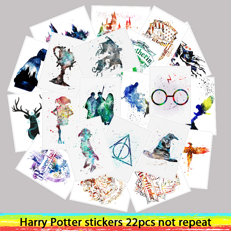 25pcs Movie Harry Potter stickers For Luggage Laptop Art Painting DIY Poster Stickers waterproof skateboard toy25pcs Movie Harry Potter stickers For Luggage Laptop Art Painting DIY Poster Stickers waterproof skateboard toy