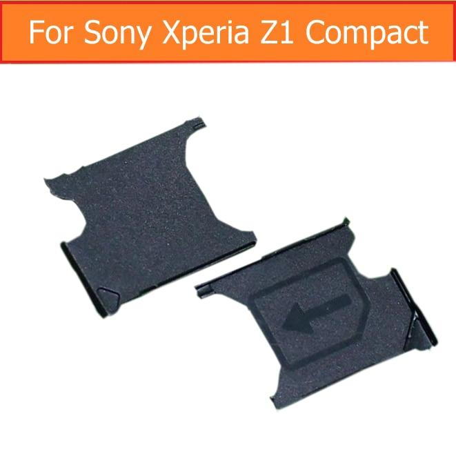 Genuine Sim Card Tray Adapter For Sony Xperia Z1 Mini M51W D5503 Sim Card Slot Tray For Sony Z1 Compact Sim Card Reader Holder