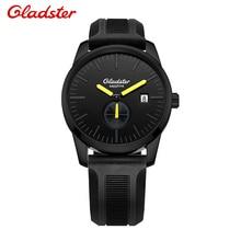 Gladster Sports Watches Men Fashion Watch Quartz Wristwatches Silicone Strap Relogio Masculino Analog Display Date Men's Watch