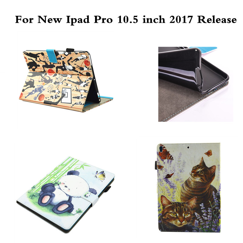 Tablet Case For Apple 2017 Release New Ipad Pro 10.5 inch Anime OWI Dog Tree Print Protective PU Leather With TPU Back Shell