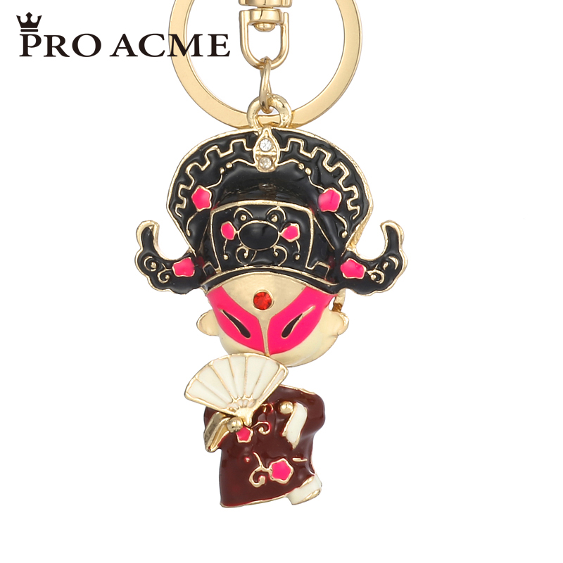 Pro Acme Lovely Novelty Chinese Characters Key Chain Holder For Car Keyrings Crystal Rhinestone Bag Charm Pendant Women PWK0749