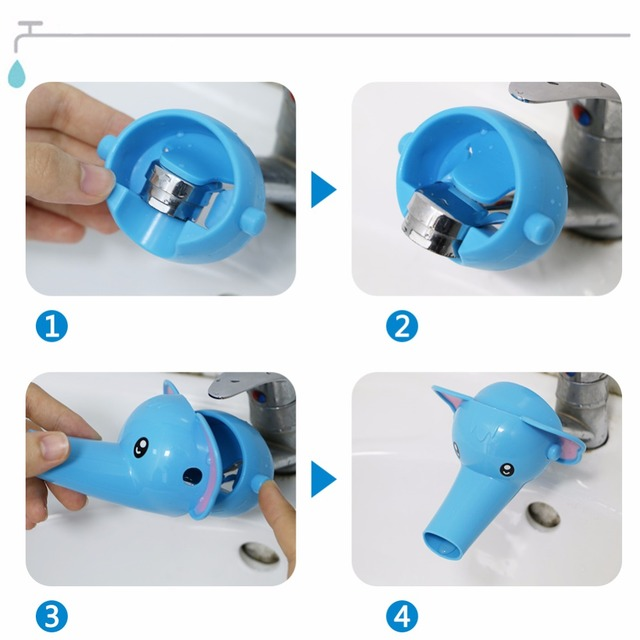 Animals Faucet Extender Baby Tubs Kids Hand Washing Bathroom Sink Gift Fashion and Convenient Kitchen Faucet Head Water Spout  5