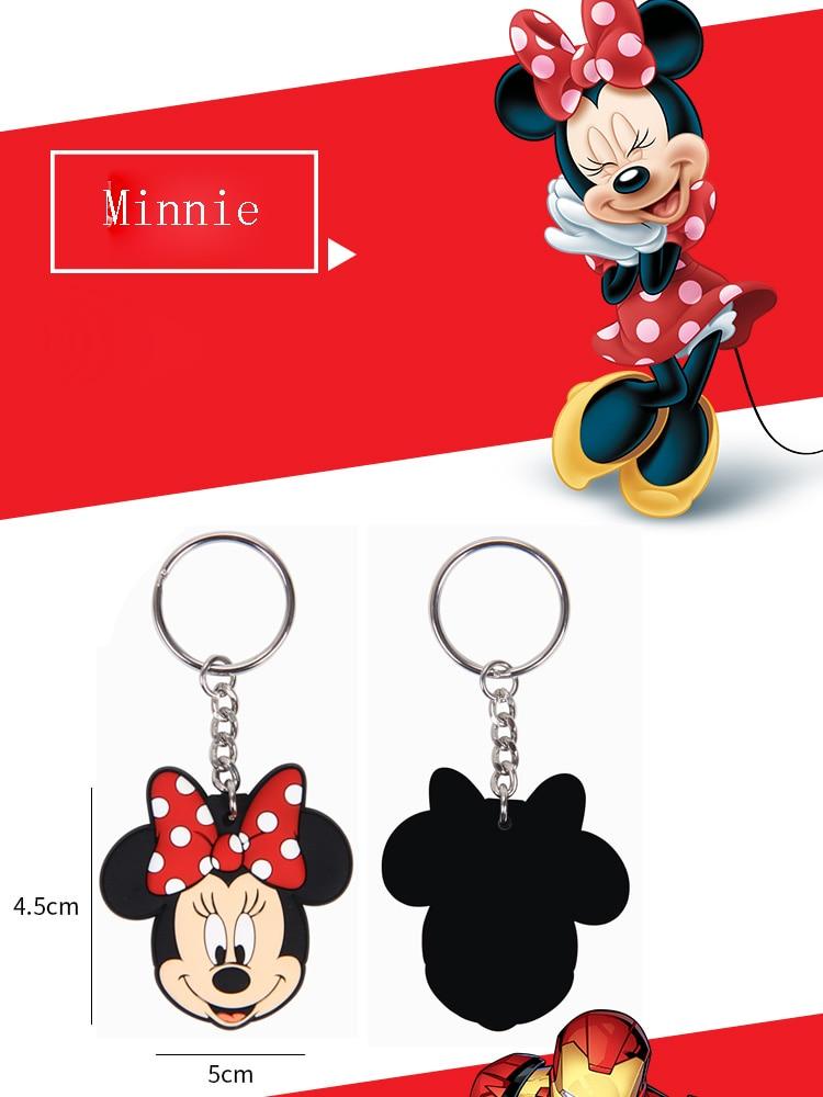 New pop Cartoon PVC Keychain Mickey Minnie Kids Keychain Key Holder Bag Pendant Charms Fans Gift Key wallet accessories (21)