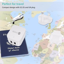 Syncwire Mini USB Wall Charger – 3A 2-Port Fast Charger with US UK EU Plug Travel Adapter for Apple iPhone iPad Mobile phone