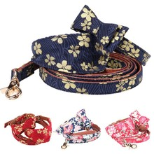 Pet Collars Leash Puppy PU Bandana-Style Bow Tie Collar Necklace Dog Collar Bow Tie Towel Leash Set Necklace