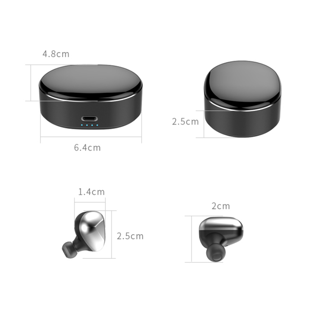 LOVESO T50 TWS Mini Wireless Bluetooth Headset HiFi Stereo Noise Cancelling Sport Earphones With Mic For Huawei Xiaomi Headphone in Phone Earphones Headphones from Consumer Electronics