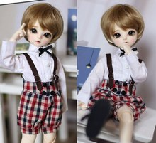 1/6 scale BJD doll clothing shirt +Strap shorts suit for BJD accessory YOSD BB.Not included doll,shoes,wig and other 17C3540