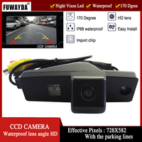 FUWAYDA CCD Car Rear View Mirror Inverter Imagem Com CÂMERA Linha Guia para Toyota Highlander/Kluger/Lexus RX300 À PROVA D' ÁGUA HD