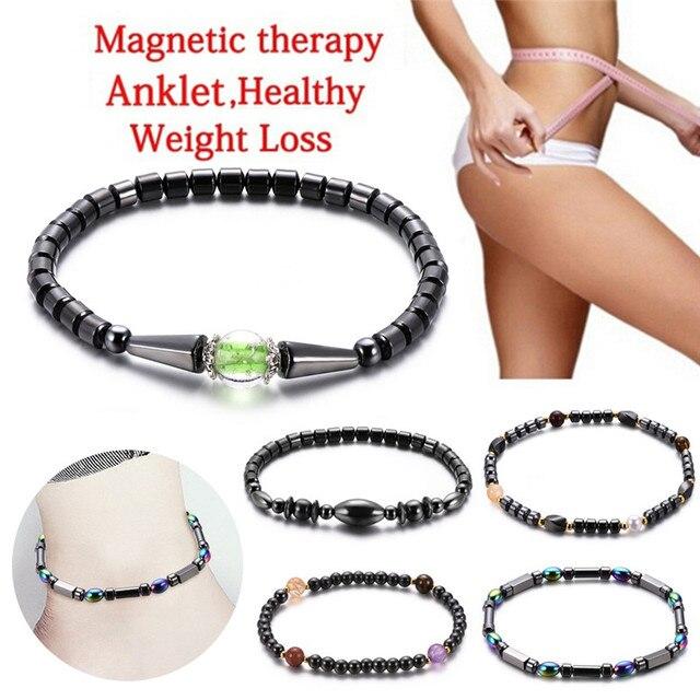減量マグネットアンクレットカラフルな石磁気治療ブレスレットアンクレット減量製品痩身ヘルスケアの宝石