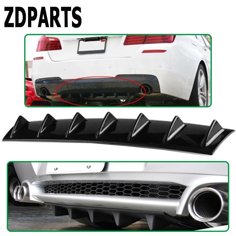 ZDPARTS Car Shark Fin 7 Wings Bumper Spoiler Stickers For Hyundai i30 ix35 Solaris Tucson 2017 Mazda 3 6 cx 5 Subaru