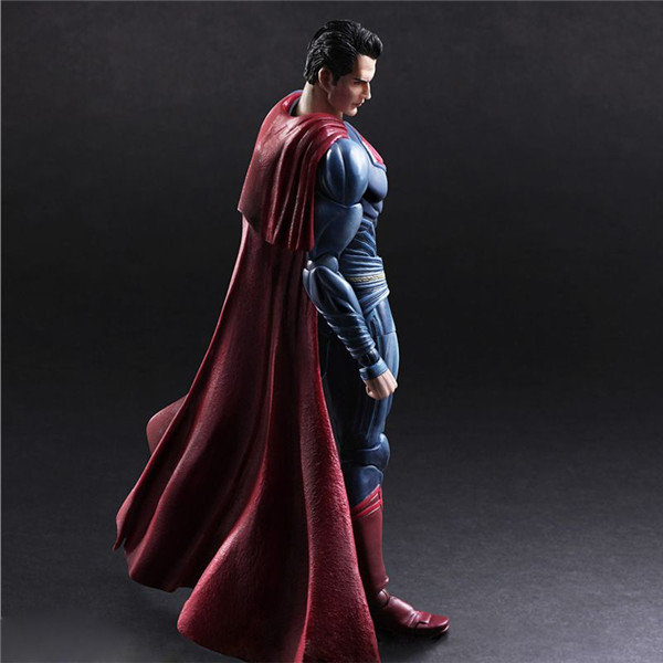 MODEL FANS Superman Action Figure Play Arts Kai Dawn of Justice PVC Toys 270mm Anime Movie Model Batman v Superman Playarts Kai
