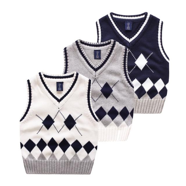 52ddd8fe6 On Sale Baby Boys Girls knit sweater kids Sweater Vest Children ...