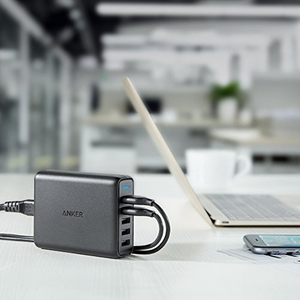 "Image 5 - אנקר מהיר תשלום 3.0 63W 5 יציאת בארה""ב/בריטניה/האיחוד האירופי USB מטען קיר, powerIQ PowerPort מהירות 5 עבור iPhone iPad, LG, Nexus, HTC ועוד"