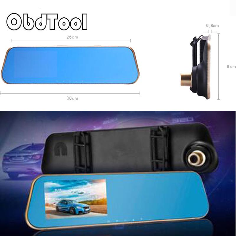 ObdTool X10 4.3 inch Auto Car DVR FHD 1080P Double lens Front & Rear Traffic DVR Recorder